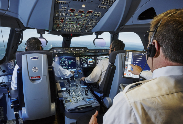 Airbus A350 flight simulator