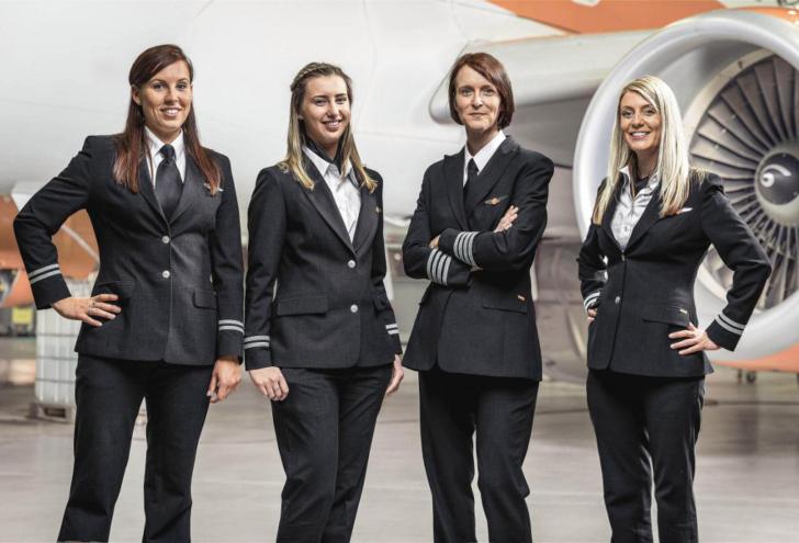 EasyJet female pilots